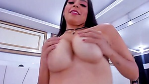 Cute Latina Playing with Her Dildo
